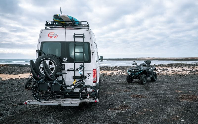 campervan with toys